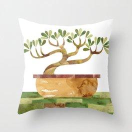 Bonsai Zen Throw Pillow