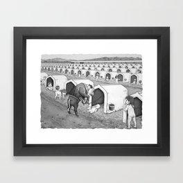 Dairy Baby Housing Framed Art Print
