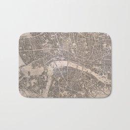 Vintage Map of London England (1845) Bath Mat