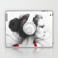 MUSIC Girl in Headphones Laptop & iPad Skin