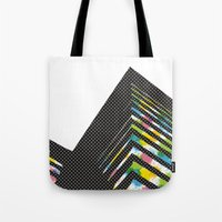 architect Tote Bags featuring abstract::architect by justlittlebird