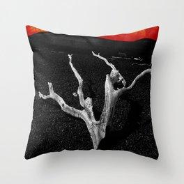 Lava Drift Wood Throw Pillow