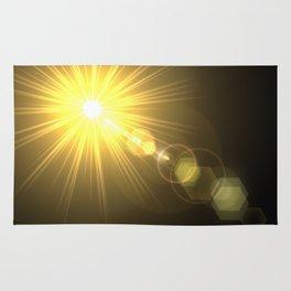 golden lens flare Rug