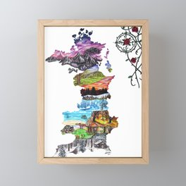 Prythian (with Compass) Framed Mini Art Print