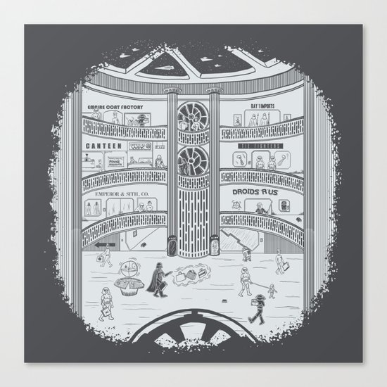 Darth Mall Canvas Print