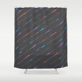 Charcoal Amaretta Rain Shower Curtain