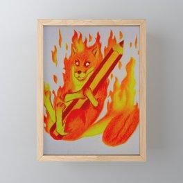 Firefox Of Passion Framed Mini Art Print