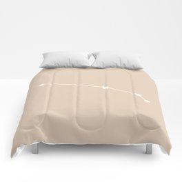 Aries Zodiac Constellation - Warm Neutral Comforters