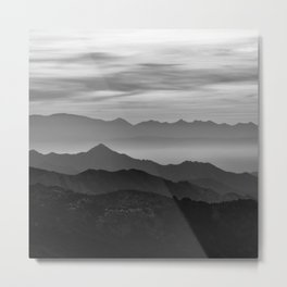 Mountains mist. BN Metal Print