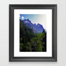 High in the Tetons Framed Art Print