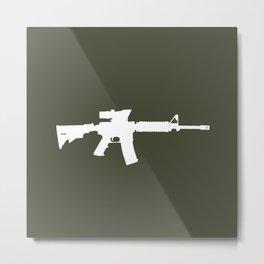 M4 Assault Rifle Metal Print