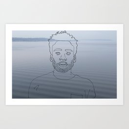 wavy childish gambino Art Print