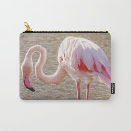 Pink Flamingo, Greater flamingo in their natural environment (Phoenicopterus roseus) Carry-All Pouch