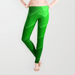Gradient Green Zig-Zags Leggings