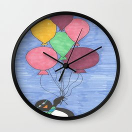 When Penguins Fly Wall Clock