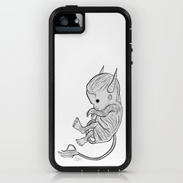 Little Devil (white version) iPhone Case