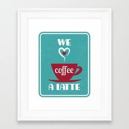 A latte love Framed Art Print