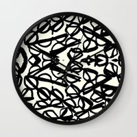 frames Wall Clocks featuring Frames by MBJP BLACK LABEL