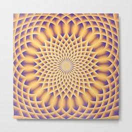 LOTUS FLOWER MANDALA salmon violet Metal Print