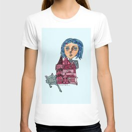 Coraline and Kitty T-shirt