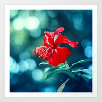 hibiscus Art Prints featuring Hibiscus by Arefin