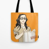 oitnb Tote Bags featuring Alex Vause OITNB by StephDere