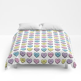 Baesic Candy Hearts - Mexican Food Comforters