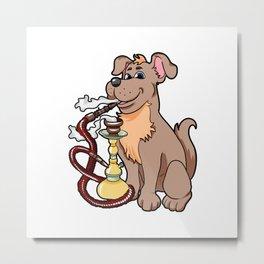 shisha dog Waterpipe Metal Print