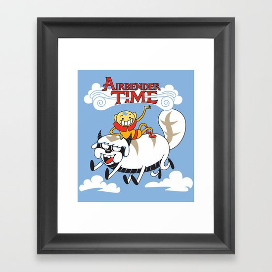Airbender Time Framed Art Print
