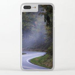 Road to the future Clear iPhone Case