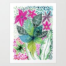 Leafy Tropical Art Print