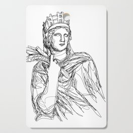 Tyche Greek Goddess Cutting Board