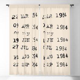 1984 -  Minimal Birthday Lettering Blackout Curtain