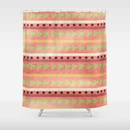 Cute Tribal Print Shower Curtain