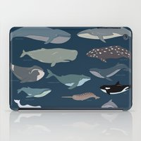 whales iPad Cases featuring whales by Eva Plaputta