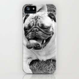 Pug Dog Art iPhone Case