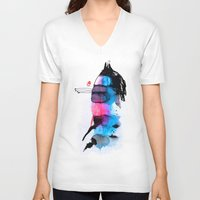 animal crew V-neck T-shirts featuring Animal by Organic Mind
