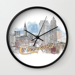 Cleveland, Ohio Wall Clock
