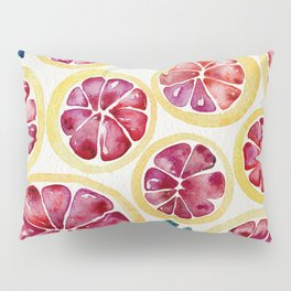 Sliced Grapefruits Watercolor Pillow Sham