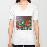 fern V-neck T-shirts featuring Fern by Brittany Ketcham