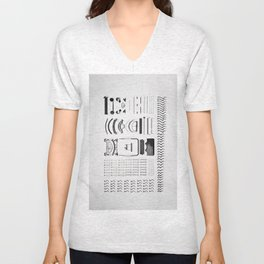 Typewriter 5 Unisex V-Neck