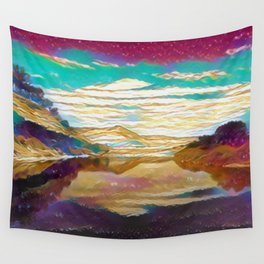 View From The Bridge Wall Tapestry