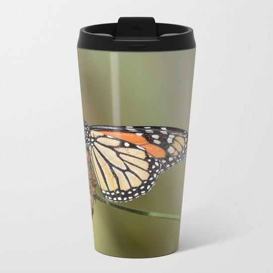Monarch butterfly Metal Travel Mug