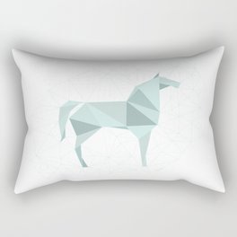 Blue Horse by Frzitin Rectangular Pillow