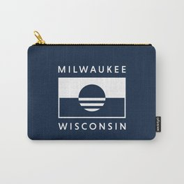 Milwaukee Wisconsin - Navy - People's Flag of Milwaukee Carry-All Pouch