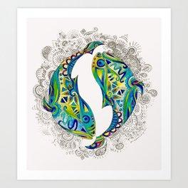 Pisces Fish-White Kunstdrucke