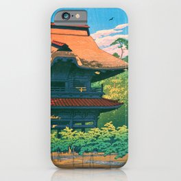 KAMAKURA KENCHOJI - Kawase Hasui iPhone Case