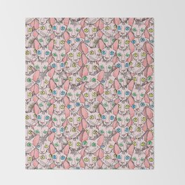 sphynx cats (naked cat) Throw Blanket