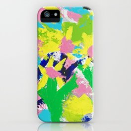 Impressionistic Daisies in the Garden iPhone Case