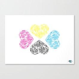 Love doodle (CMYK) Canvas Print